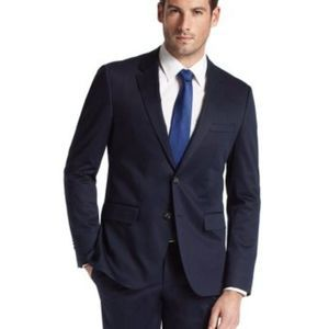 HUGO BOSS blue pinstripe James3 Sharp5 suit jacket